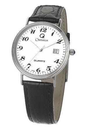 ORPHELIA Męski zegarek na rękę analogowy kwarcowy skóra bransoletka białe złoto