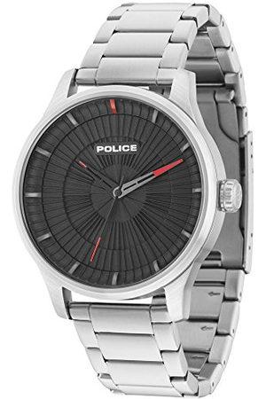 Police Męski analogowy zegarek kwarcowy z paskiem ze stali nierdzewnej 15038JS/02M