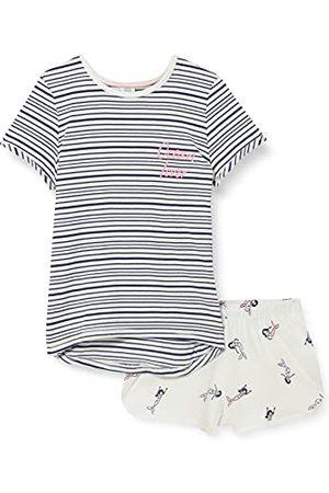 Sanetta Dziewczęce krótkie niebieskie piżama dla niemowląt i małych dzieci