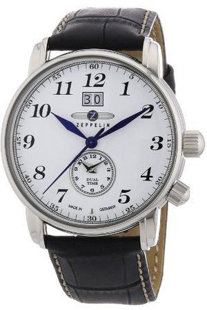 Zeppelin Męski zegarek na rękę XL LZ127 Graf Analogowy Kwarc Skóra 76441