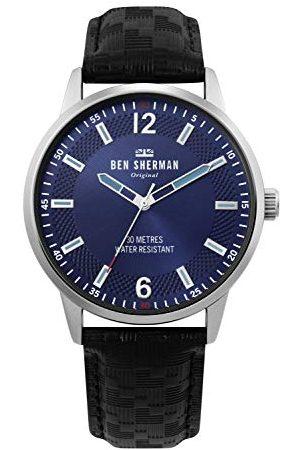 Ben Sherman Męski analogowy klasyczny zegarek kwarcowy ze skórzanym paskiem WB029BU