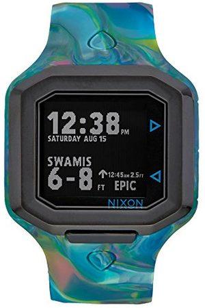 Nixon Unisex cyfrowy zegarek kwarcowy z silikonową bransoletką A4761610