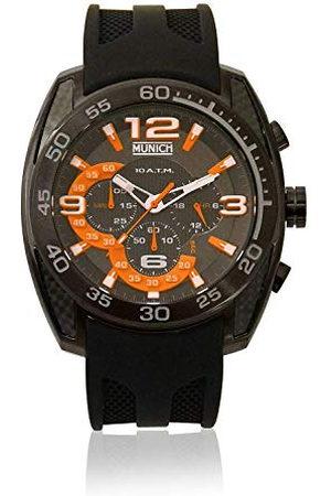Munich Unisex dla dorosłych analogowy zegarek kwarcowy z gumową bransoletką MU+131.1B