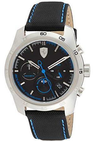 Scuderia Ferrari Męski chronograf kwarcowy zegarek ze skórzanym paskiem 0830445