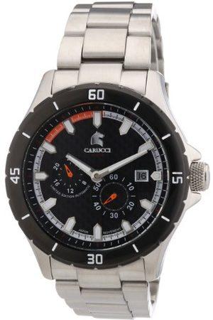 Carucci Watches męski zegarek na rękę XL analogowy automatyczny stal szlachetna CA2187ST-OR
