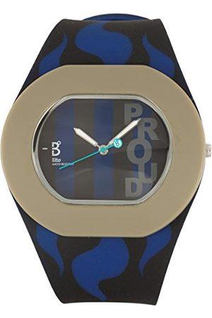 B360 Unisex zegarek na rękę B PROUD Large, 3 bars analogowy kwarcowy silikon Inter Milan