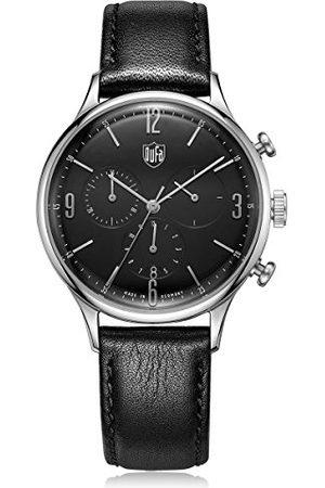 DUFA Unisex chronograf kwarcowy zegarek ze skórzanym paskiem DF-9002-01