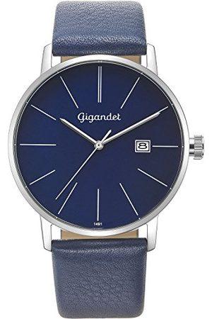 Gigandet Męski analogowy zegarek kwarcowy ze skórzanym paskiem G42-009