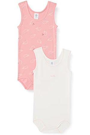 Sanetta Body dla dziewczynek w dwupaku czerwone małe dzieci zestaw bielizny