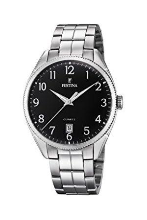 Festina Mężczyzna Zegarki - Męski analogowy automatyczny zegarek z bransoletką ze stali szlachetnej F16976/2