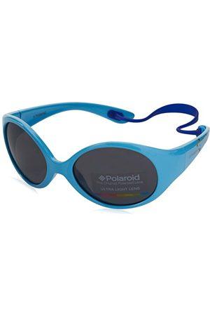 Polaroid Okulary przeciwsłoneczne - Unisex dziecięce okulary przeciwsłoneczne Pld 8010/S Y2 Mif 47, turkusowe (Azure/Grey)