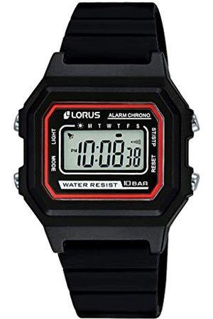 Lorus Kids - Chronograf ze stali nierdzewnej i tworzywa sztucznego z silikonowym paskiem R2315NX9