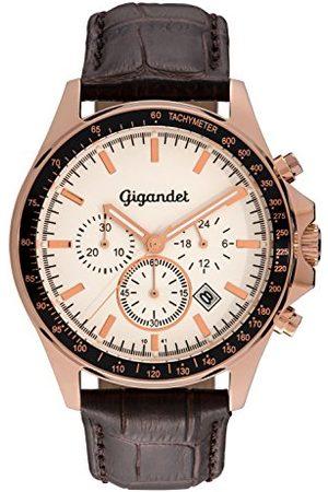Gigandet G3-006 zegarek z brązowym skórzanym paskiem