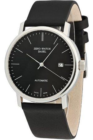 Zeno Męski automatyczny zegarek Bauhaus 3644-i1 ze skórzanym paskiem