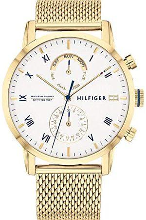Tommy Hilfiger Męski analogowy zegarek kwarcowy z paskiem ze stali nierdzewnej 1710403