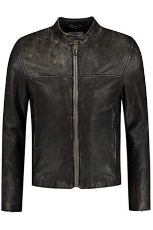GOOSECRAFT Męska kurtka Gc Eagle Rock Vintage Biker Leather Jacket