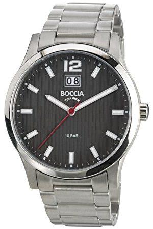 Boccia Mężczyzna Zegarki - Męski zegarek na rękę XL tytan analogowy kwarcowy tytan 3580-02