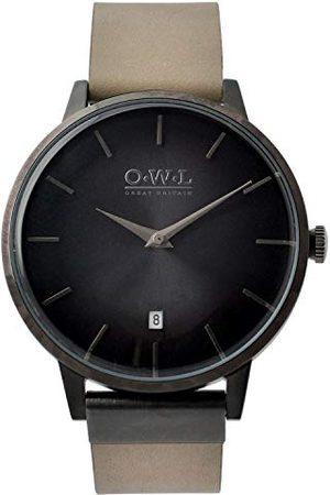 O.W.L Męski analogowy japoński zegarek kwarcowy z paskiem ze stali nierdzewnej W6SBS