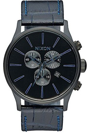 Nixon Unisex zegarek na rękę The Sentry analogowy kwarcowy skóra A4052153-00