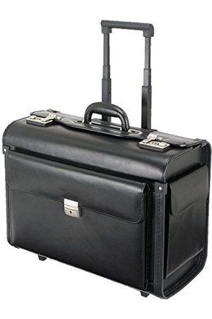 Alassio 92705 - walizka pilota SILVANA, wykonana z wysokiej jakości skóry, ok. 49 x 40 x 25 cm, czarna