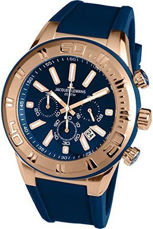 Jacques Lemans Męski chronograf kwarcowy Smart Watch zegarek na rękę z silikonowym paskiem 1-1820G