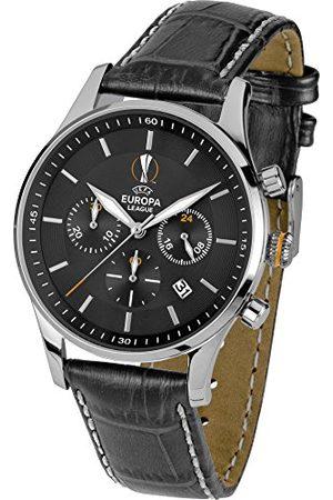 Jacques Lemans Męski zegarek na rękę UEFA EL analogowy kwarcowy skóra U-61A