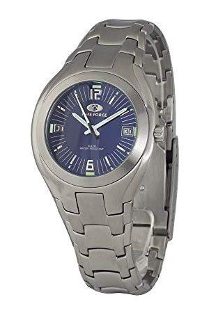 TIME FORCE Unisex Dorośli analogowy zegarek kwarcowy z bransoletką ze stali szlachetnej TF2582M-02M