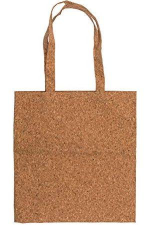 Out of the Blue 810434 - torba na zakupy z korka, z paskiem do noszenia, ok. 38 x 25 cm, brązowa