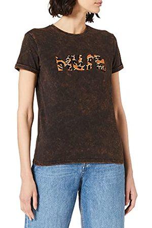 Mexx Damski T-shirt z lnu Relaxed Fit