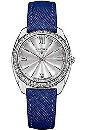 ELYSEE 28600BLUE analogowy zegarek kwarcowy ze skórzanym paskiem dla dorosłych, uniseks