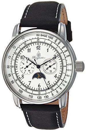 Burgmeister Męski analogowy zegarek kwarcowy ze skórzanym paskiem BM335-182