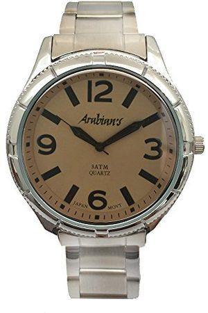 ARABIANS Męski analogowy zegarek kwarcowy z bransoletką ze stali szlachetnej HAP2199M