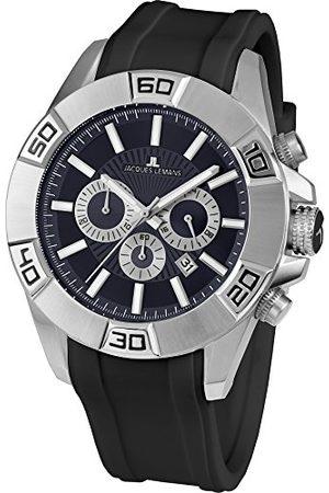 Jacques Lemans Męski analogowy zegarek kwarcowy Smart Watch z silikonową bransoletką 1-1808A