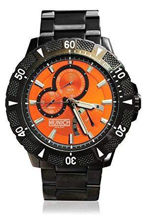 Munich Unisex dla dorosłych analogowy zegarek kwarcowy z bransoletką ze stali szlachetnej MU+104.1C