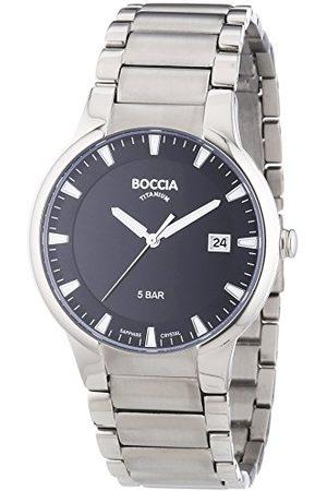 Boccia Chłopiec Zegarki - Chłopięcy analogowy zegarek kwarcowy z tytanowym paskiem B3576-01