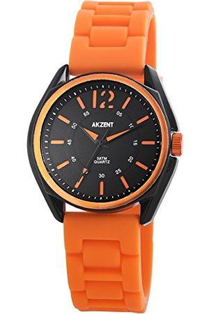Akzent Unisex Dorośli analogowy zegarek kwarcowy z silikonowym paskiem SS867110004