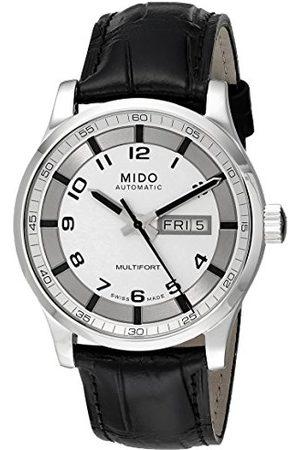 MIDO Męski zegarek na rękę XL Multifort analogowy automatyczny skóra M0054301603200
