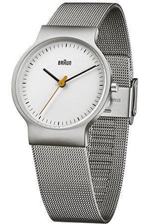 von Braun Męski zegarek na rękę klasyczny zegarek na rękę analogowy kwarcowy stal szlachetna BN0211WHSLMHL