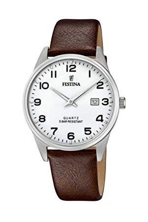 Festina Męski analogowy zegarek kwarcowy ze skórzanym paskiem F20512/1