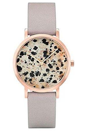 Cluse Unisex dla dorosłych cyfrowy zegarek kwarcowy ze skórzanym paskiem CL40106