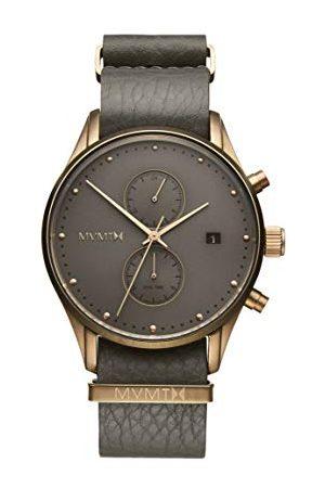 MVMT Mężczyzna Zegarki - Męski analogowy zegarek kwarcowy ze skórzanym paskiem ze skóry cielęcej D-MV01-BROGR
