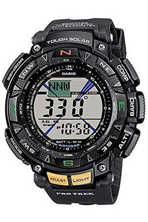 Casio Męski zegarek cyfrowy z bransoletką z żywicy PRG-240-1ER