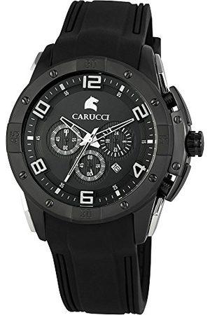 Carucci Watches męski zegarek na rękę XL analogowy kwarcowy kauczuk CA2214BK