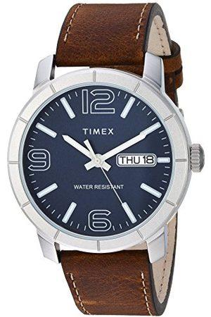 Timex Męski zegarek skórzany Mod44 44 mm pasek