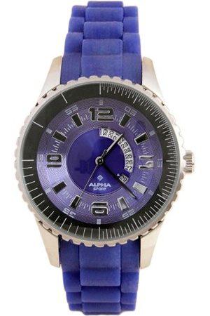 Alpha Saphir Męski zegarek kwarcowy 231C 231C z gumowym paskiem