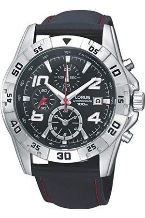 Lorus Watches męski zegarek na rękę XL HAU Sports ZB chronograf skóra RF805DX9