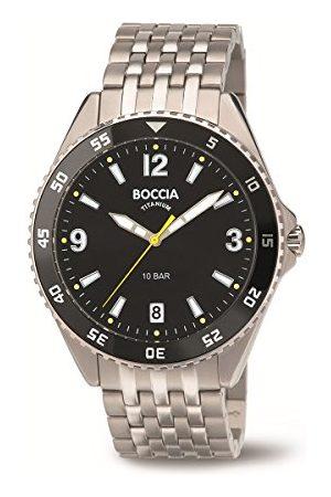 Boccia Męski cyfrowy zegarek kwarcowy z tytanową bransoletką 3599-03