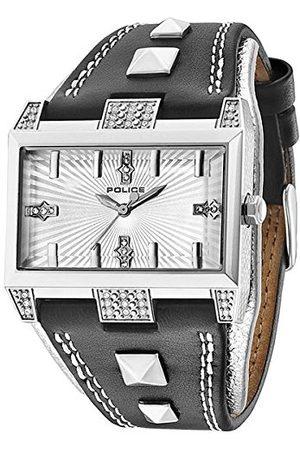 Police Elevation męski zegarek kwarcowy ze srebrnym wyświetlaczem analogowym i czarnym paskiem PL.13662JS/04