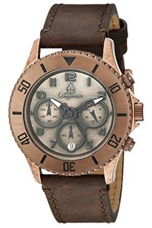 Burgmeister Męski zegarek kwarcowy z brązowym wyświetlaczem analogowym i brązową skórzaną bransoletką BM532-955