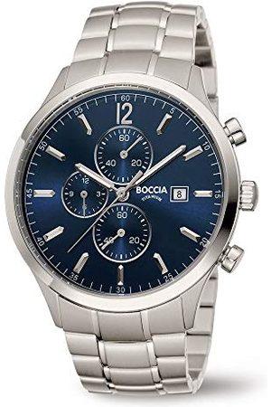 Boccia Męski chronograf kwarcowy zegarek z tytanową bransoletką 3753-03